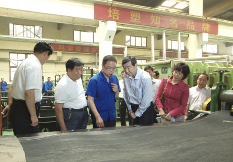 中国橡胶工业协会,考察博野县输送带企业
